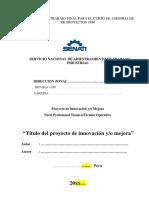 Proyecto de Innovacion & Mejora Senati