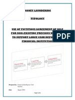 Typology -Use of Falsified Agreement of Sale to Support Large Cash Deposit (August 2016)