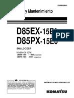 O&M D85EX, D85PX-15E0 11601-UP ESAM028601