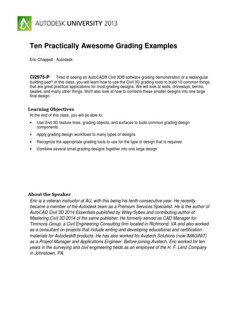 Civil 3d Grading Tools
