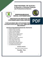 Proyecto de Responsabilidad Social Universitaria 2017-II