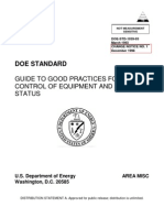 Doe Guide to Good Practices for Control of Equipment and System Status Doe-std-1039-93