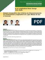 Estudo Comparativo dos Critérios de Dimensionamento ao Cisalhamento Longitudinal em Lajes Mistas de Aço e Concreto