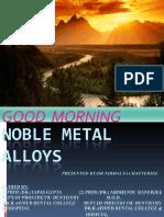 Noble Metal Alloys