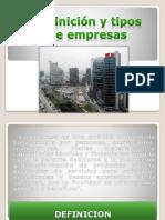 1. Empresa Concepto y Tipos de Empresa