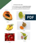 10 Frutas de Clima Calida