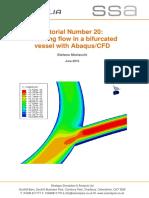 Tutorial 20 Abaqus CFD Bifurcation