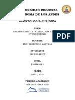 Ensayo Deontologia Juridica
