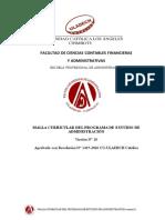 Escuela Profesional de Administración - ULADECH CATÓLICA - Malla Curricular