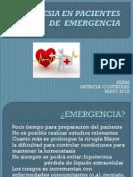Anestesia en Pacientes de Emergencia