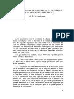 01. G. E. M. ANSCOMBE, Por qué la prueba de Anselmo en el «Proslogion» no es un argumento ontológico.pdf