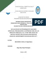 Informe Tenico Profesional 2018