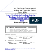 Test Bank for the Legal Environment of Business Text and Cases 9th Edition Cross, Miller