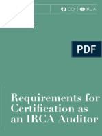 IRCA Application Requirements