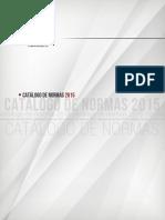 Catálogo de Normas Nmx Ance 2015