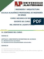 Semana 03 Mecanica de Rocas i - Cap-II Caracteristica de Resistencia de Las Rocas