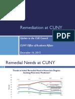cuny remediation update