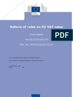 Reform of Rules on EU VAT Rates