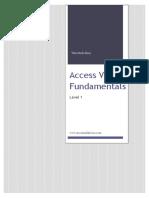 Access VBA Fundamentals - Level 1