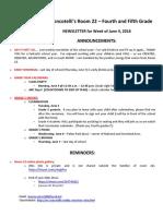 2018-06-04 room 22 newsletter