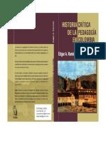 RAMIREZ, EDGAR a - Historia CrÍtica de La PedagogÍa en Colombia