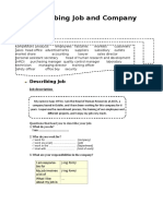 Describing Job and Company