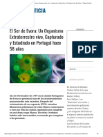 El Ser de Evora_ Un Organismo Extraterrestre Vivo, Capturado y Estudiado en Portugal Hace 58 Años – Pagina Noticia