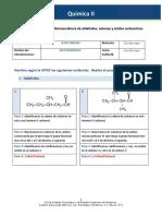 Actividad 3 Nomenclatura de Aldehídos, Cetonas y Ácidos Carboxílicos