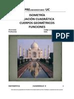 Cuadernillo 8_Isometría, Ecuac Cuadrática, Cuerpos Geom y Funciones