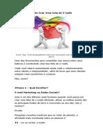 Os Passos Para Se Criar Uma Lista de Email