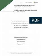 La Volatilidad Del Precio Del Petróleo y Sus Efectos en La Economía Ecuatoriana en La Última Decada