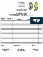 Learning Competency Directory (LCD)