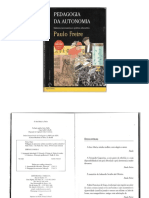 Livro 'Pedagogia Da Autonomia' de Paulo Freire (1996)