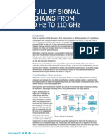 Full RF Signal Chains From 0Hz to 110GHz