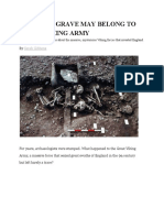 this mass grave may belong to great viking army