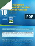 PPT 10 Manajemen Operasional