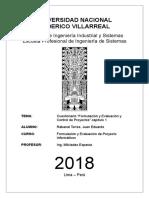 Cuestionario Cap. 1 Formulacion y Evaluacion y Control de Proyectos