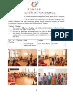 Teachers/Community Training February 2018