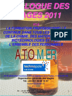 Catalogue Formation Continue Chimie Materiaux Polymeres Metaux Composites Formulation Analyse 2011