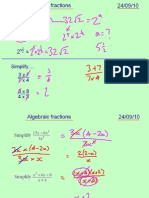 Core1 Algebraic Fractions 240910