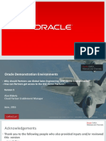 Oracle Demonstration Enviroments