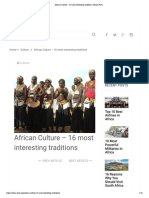 African Culture – 16 most interesting traditions | Africa Facts