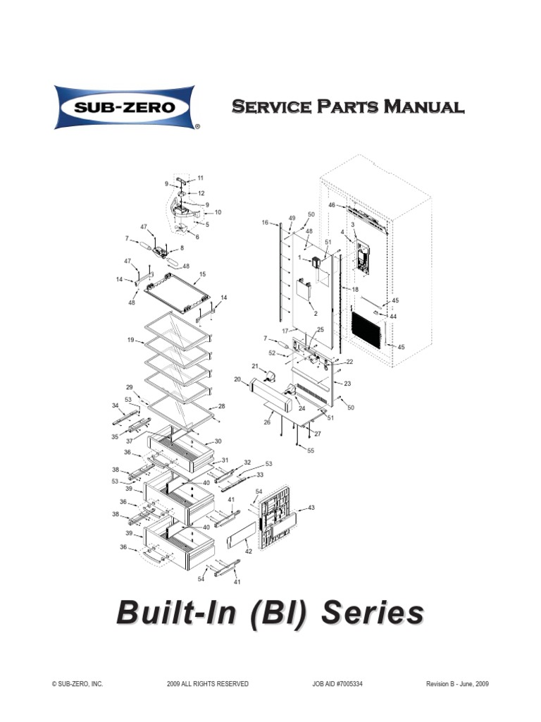 Sub-Zero 7007271 Door Shelf Assembly