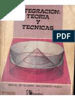 Integración, Teoría y técnicas - Miguel de Guzmán.pdf