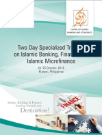 Two days specialized training workshop on Islamic Banking, Finance and Islamic Microfinance training in Philippine