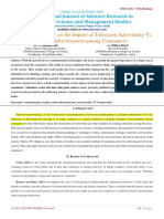 A Literature Review on the Impact of Television Advertising vs. Online Advertisement Among Consumers