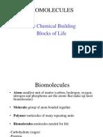 Lecture 2 3 Biomolecule