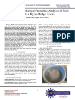 Physical & Mechanical Properties Analysis of Rich Husk + Hypo Sludge Bricks