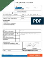 Certificado Medico Petter