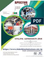 Delhi ITI Admission 2018